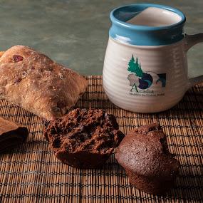 Breakfast by Daniel Gorman - Food & Drink Plated Food ( mug, chocolate, bread, breakfast, coffee, muffin,  )