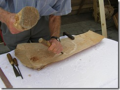demonstratie sculptura lemn Katona Iuliu