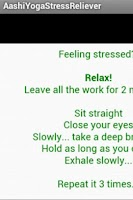 Screenshot of Aashi Yoga Stress Reliever