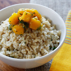 Brown Coconut Rice with Cilantro