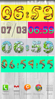 Screenshot of Yaclock digital clock Widget
