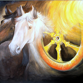 A Horses dream. by Himanshu Gupta - Painting All Painting