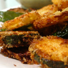 Parmesan-Panko Fried Summer Squash with Buttermilk Ranch