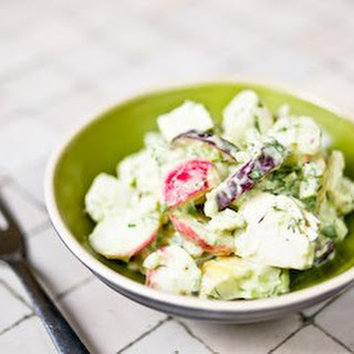 Chicken and Radish Salad with Creamy Avocado Dressing