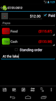 Screenshot of MoneyDroid Pro