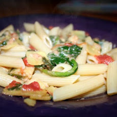 Spinach and Artichoke Penne Pasta