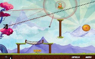 Screenshot of Ninja Throw