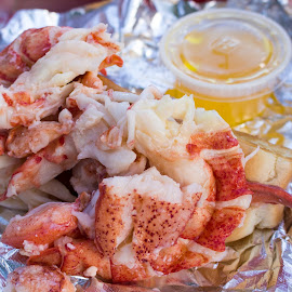 Mm Mmm Good by Shelby Taylor - Food & Drink Plated Food ( lobster roll, wiscassett, maine, red's eats, lobster )