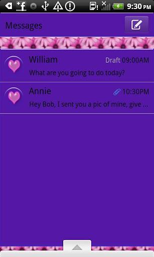 GO SMS THEME LoveLetters4U