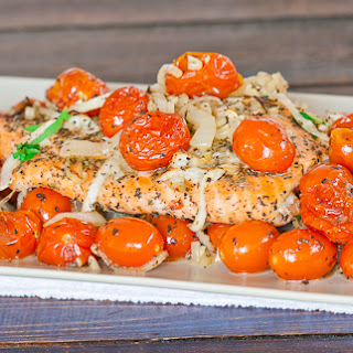 Salmon Roasted With Tomatoes And Olives Recipes