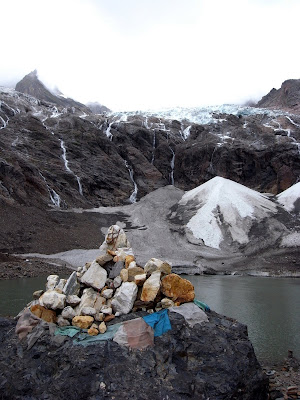 冰湖下的玛尼堆