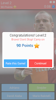 Screenshot of Guess the Football Player