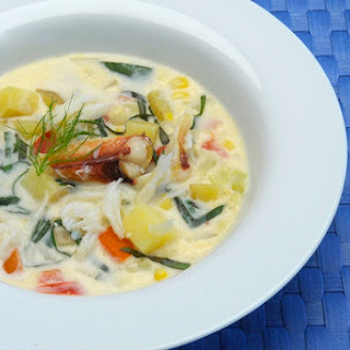 Fresh Corn & Dungeness Crab Chowder