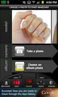 Screenshot of Virtual Nail Salon