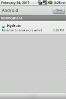 Screenshot of Hydrate