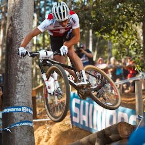 Nino Schurter by Simon Joubert - Sports & Fitness Cycling ( nino schurter, uci, cascades, simon joubert )
