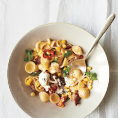 Orecchiette with Sausage, Corn, and Chiles