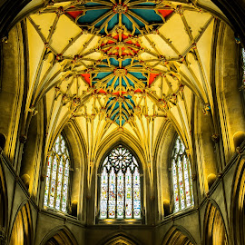 Tewkesbury Abbey - The Chancel Ceiling by Mick Glass - Buildings & Architecture Places of Worship ( gloucestershire, tewkesbury, architecture, united kingdom, abbey, Architecture, Ceilings, Ceiling, Buildings, Building )