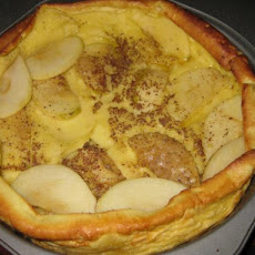 Kittencal's German Apple Puff Pancake