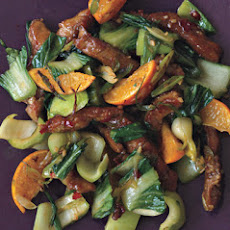 Pork Tenderloin Stir-Fry with Tangerines and Chili Sauce