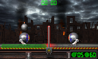 Screenshot of Extreme Volleyball with a bomb