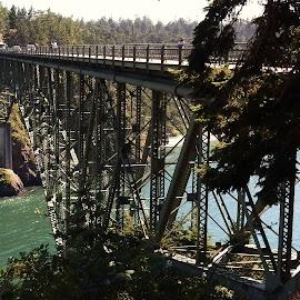 Deception Pass by Lavonne Ripley - Buildings & Architecture Bridges & Suspended Structures