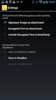 Screenshot of Signature Capture App