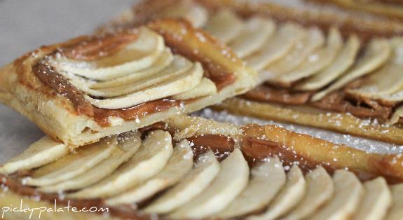 Honeyed Apple Peanut Butter Tart Recipe | Yummly