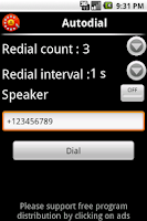 Screenshot of Autodial (autorecall,dial)FREE