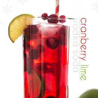 Sparkling Cranberry Lime Cocktail