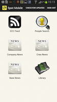 Screenshot of SPOT Mobile