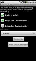Screenshot of Bluetooth Service