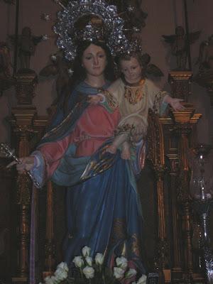 La imagen de María Auxiliadora .Foto: Pozoblanco News