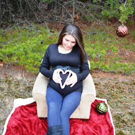 Michele Gambone Photography by Michele Gambone - People Maternity ( love, baby girl, christmas, pregnant, candy canes )