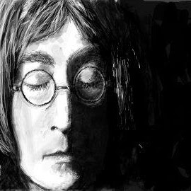 John Lennon by Terri Perkins - Drawing All Drawing ( the beatles, black and white, graffiti, lennon, john lennon )