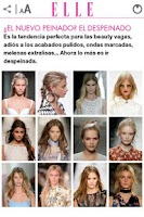 Screenshot of ELLE : Moda Belleza Tendencias