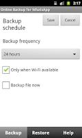 Screenshot of Auto Backup for WhatsApp