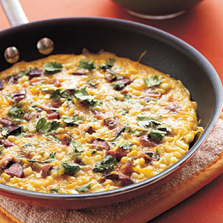 Smoked Sausage and Corn Frittata