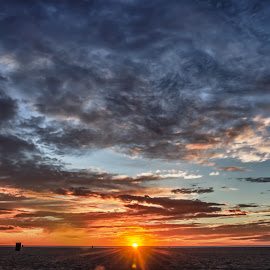 Venice Beach sunset by Thierry Mallet - Landscapes Sunsets & Sunrises ( venice beach, sunset, venice, beach )