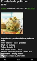 Screenshot of Recetas de Ensaladas