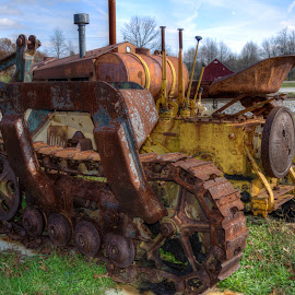 Tracks by Calvin Morgan - Transportation Other ( hdr, farm equiptment, rust, nikon d7000, antique, tractor )