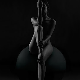 Vertical by Maxim Malevich - Nudes & Boudoir Artistic Nude ( erotic, body, monochrome, nude, black and white, female, woman, artistic nude )
