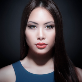 asian woman portrait by Markus Gann - People Portraits of Women ( expression, studio, person, makeup, thai, long, chinese, asian, glamour, woman, lifestyle, care, dark, smile, smiling, black, white, happiness, japanese, portrait, charming, lips, straight, face, fashion, model, one, beauty, cute, pretty, japan, girl, figure, style, attractive, happy, stylish, asia, hair, closeup, look, beautiful, traditional, adult, young, blue, female, background, lady, healthy )