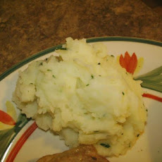 Mashed Potatoes with Garlic, Basil and Chives