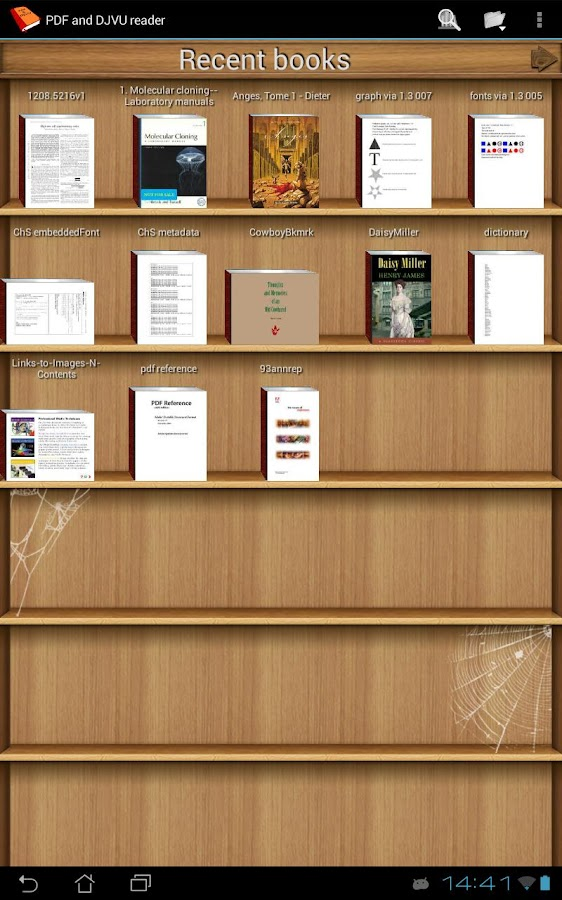PDF and DJVU Reader Screenshot 0