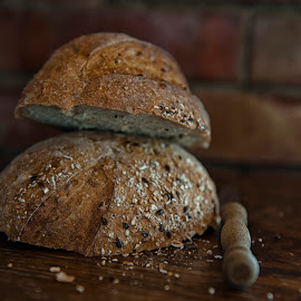 Bread by Gabriela Lupu - Food & Drink Cooking & Baking ( bake, bread, seeds, baking, knife )