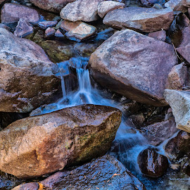 And water will fall by Jamie Valladao - Nature Up Close Water ( waterfall, falls, rocks,  )