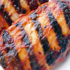 Grilled Chicken Basted With Red Horseradish Sauce