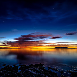 Great Salt Lake Sunset by Cameron Knudsen - Landscapes Sunsets & Sunrises (  )