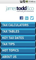 Screenshot of James Todd Tax App